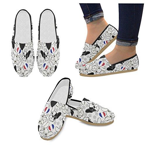 D-histoire Mode Baskets Flats Rose Flamant Rose Classique Chaussures De Toile Slip-mocassins Multi4
