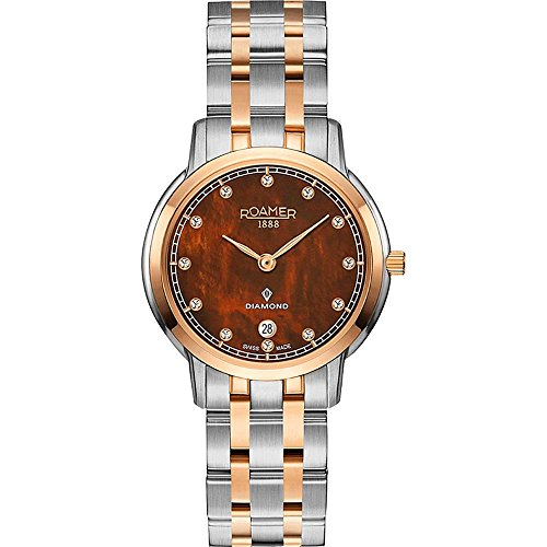 Roamer of Switzerland Women's Superslender Diamond 29mm Two Tone Steel Case Quartz Watch 515811 49 09 50