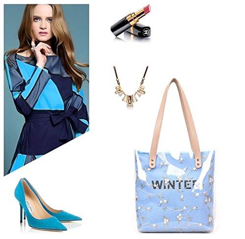 hombro clutches de Shoppers bandolera Mujer de Bolsos Carteras Azul y y bolsos mano wIxIFqnfR