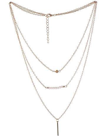 Hualieli Collar de traje de múltiples capas con perlas para vestidos de mujer.