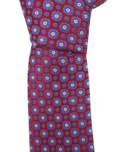 canali-mens-red-floral-print-neck-tie