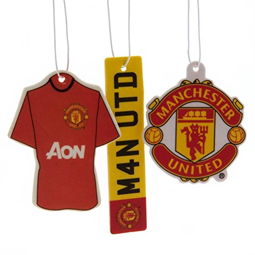 Manchester United FC Air Fresheners (Pack Of 3) (One Size) (Red)