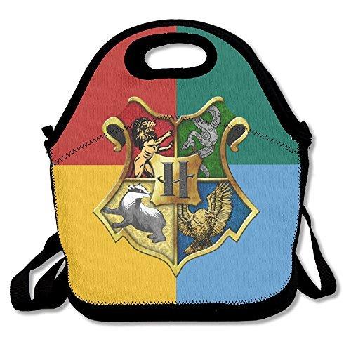 SuperWW Harry Potter Hogwarts Crest Lunch Bag Tote Handbag