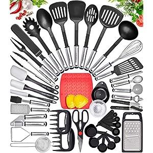 Home Hero Kitchen Utensil Set Cooking Utensils Set – Nylon Kitchen Utensils Set Kitchen Tool Set 44 Pcs. Cooking Utensil…