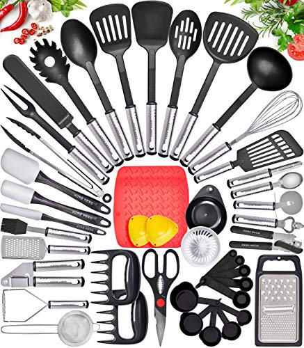 Multifunction Kitchen Utensil Set,Cooking Utensils Set,Kitchen Accessories Kitchen Gadgets Pack of 12 pcs.Stainless Kitchen Utensils Set,Kitchen Tools Set with Blue Polypropylene Material Handle.