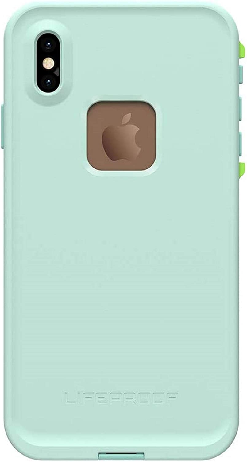 LifeProof FRE Series Waterproof Case for iPhone Xs Max -Non Retail Packaging - Tiki (FAIR Aqua/Blue Tint/Lime)