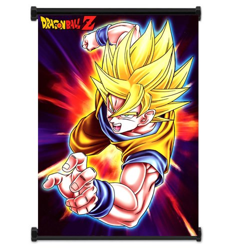 Dragon Ball Z Anime Super Saiyan Goku Fabric Wall Scroll Poster (16x21) Inches. [WP]DragonBallZ-22 (Goku Super Saiyan Poster)