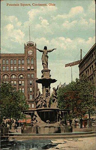 Fountain Square Cincinnati, Ohio Original Vintage - Square Ohio Fountain Cincinnati