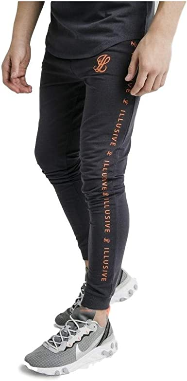 Illusive London Pantalon de Chandal Taped Gris: Amazon.es: Ropa y ...