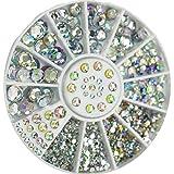 CJESLNA Great Mixed DIY Size Glitter Rhinestones Charm 3D Nail Art Decor Accessories (Multi Color)