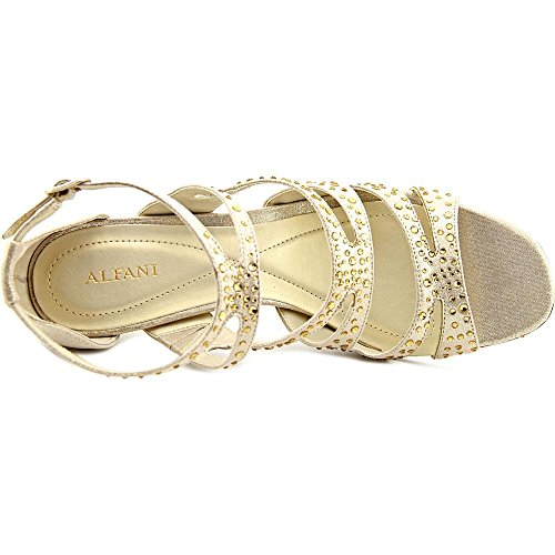 Alfani Womens Capucen Open Toe Special Occasion Strappy Sandals Gold Y5YVqq
