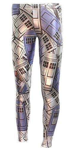 Welovefine Doctor Who and The Daleks Women's Metallic Leggings