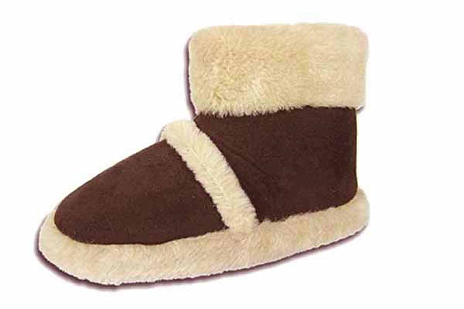 Coolers Boys Girls Womens Furry Warm Lined Ankle Boots Bootees Snugg Slippers