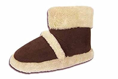 73281add41a Coolers Boys Girls Womens Furry Warm Lined Ankle Boots Bootees Snugg Slippers  UK 2 UK