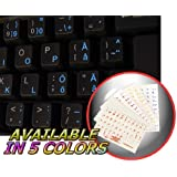 SWEDISH - FINNISH KEYBOARD STICKERS WITH BLUE LETTERING TRANSPARENT BACKGROUND FOR DESKTOP, LAPTOP AND NOTEBOOK