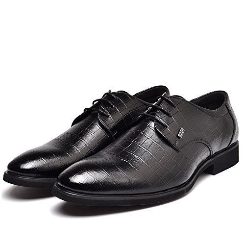 Wedding Business Black Men's Office Lace up Dress REETENE for Oxford Shoes Men 7YwI4q