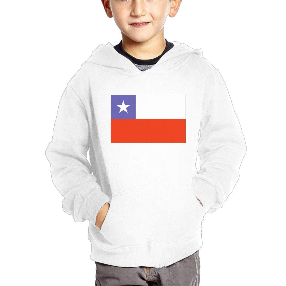 JIANGSHAN Chile Flag Fashion Hooded Pocket Sweater for Children Spring//Autumn//Winter Outfit Long-Sleeved Hoodie