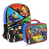 Mickey Mouse 16 inch Backpack and Lunch Box Set (Let's Roll Black/Multi)