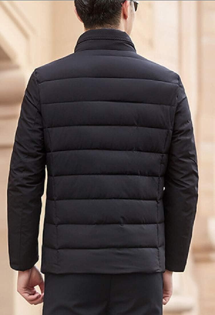 WSPLYSPJY Mens Winter Lightweight Packable Warm Down Jackets Outwear Puffer Coat