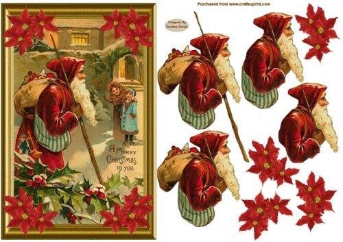 Babbo Natale decoupage carta FRONT1by Sandra Carlse Craftsuprint