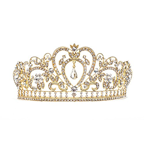 Baroque Clear Rhinestone Crystal Tiara Crown]()