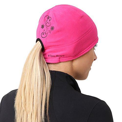 TrailHeads Women's Microfleece Ponytail Hat - fuschia