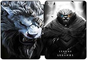 Flip Foldable iPad Air 2 Case leather League of Legends Headhunter Rengar Slim Side Smart Cover Auto Wake & Sleep IPD3131661