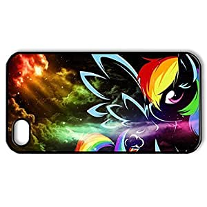Cartoon Anime Series Protective Snap-on Hard Back Case Cover for iPhone 4 4S - 1 Pack - My Little Pony Rainbow Dash