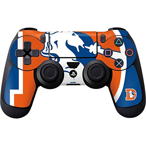 Skinit Denver Broncos Retro Logo PS4 Controller Skin - Officially Licensed NFL PS4 Decal - Ultra Thin, Lightweight Vinyl Decal Protective Wrap