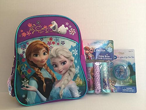 Disney Frozen Backpack Elsa and Anna 11inches with 1pc Yo Yo and 1pc Jump Rope
