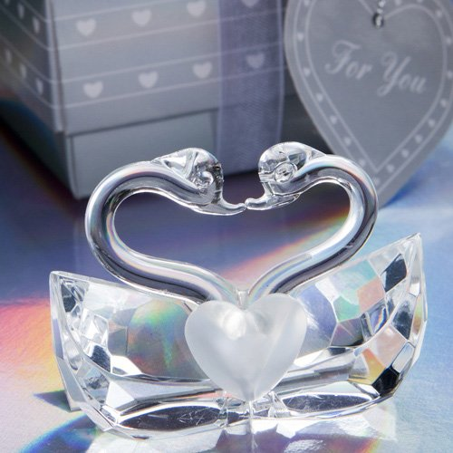 Choice Crystal Collection kissing swans (Set of 6)