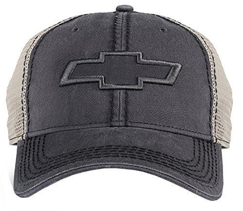 Chevrolet Mesh Hat (Grey)  One - Baseball Chevy Cap