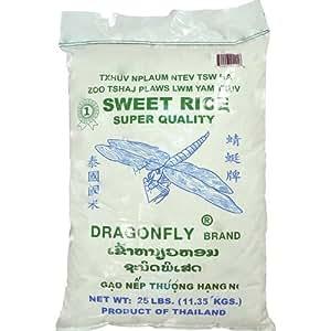 Amazon.com : Dragonfly Sweet Rice, 25-Pound : Rice Produce