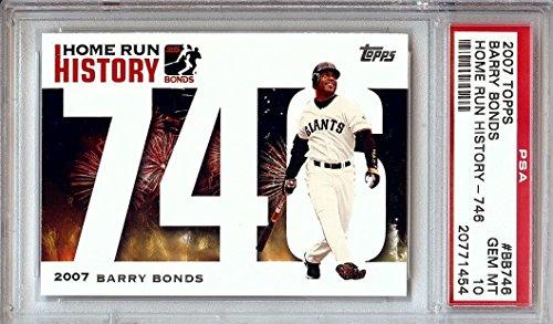 acfea306175 Barry Bonds 2007 Topps Home Run History Graded PSA Gem Mint 10 Giants  BB746
