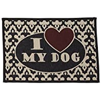 PetRageous I Love My Dog Tapestry Mat Feeder, 13 x 19/Small