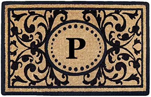 Heavy Duty 18 x 30 Coco Mat Heritage, Monogrammed P