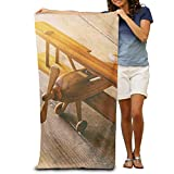 Super Absorbent Beach Towel Wood Airplane Polyester Velvet Beach Towels 31.551.2 Inch
