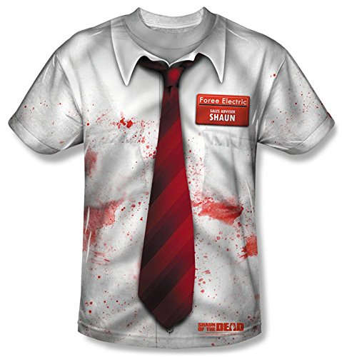 Dress Bloody Tank Costumes (Shawn Of The Dead - Bloody Shirt T-Shirt Size)