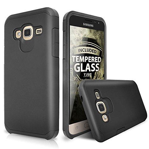 Slim Shockproof Case for Samsung Galaxy J1 (Black) - 1