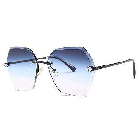 Yanhonin - Gafas de sol geométricas, UV400, coloridas, sin ...