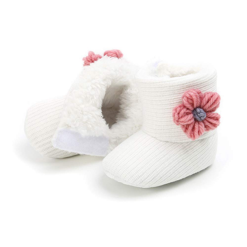 Suma-ma 0-23M Vintage Flower Prewalker Shoes for Toddlers Boys Girls Soft Fabric First Walk Non-Slip Cotton Shoes Pink