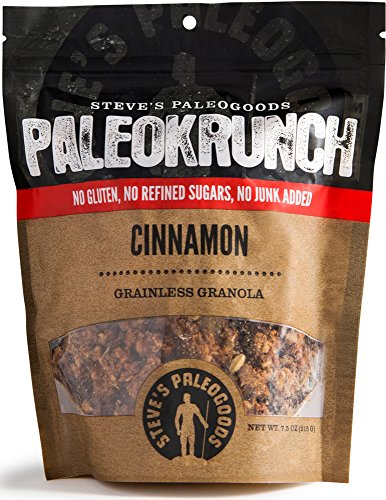 Crunch Granola Cinnamon (Steve's PaleoGoods Cinnamon PaleoKrunch Cereal 7.5oz (Pack of 3))