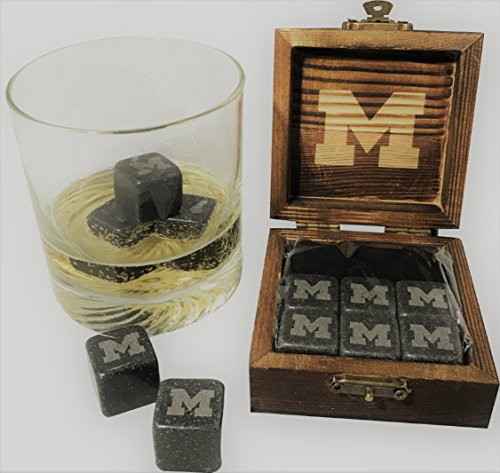 University of Michigan Etched Wine and Whiskey - Glass Wine University State