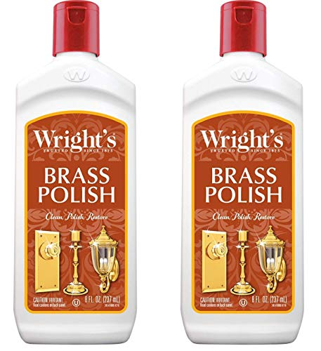 (Wright's Brass Polish - Gently Clean and Remove Tarnish Without Scratching - 8 Fl. Oz., 2-Pack)