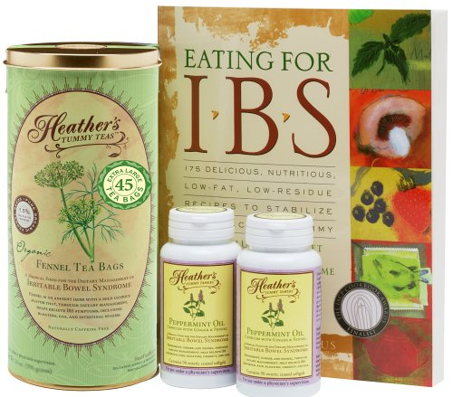 Heather's Irritable Bowel Syndrome Diet Kit #1 (Eating for IBS, Fennel Tea Bags, Peppermint Oil Caps (Over 20% off!) by Heather's Tummy Care