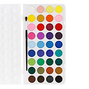 U.S. Art Supply Professional 80 Color Set of Acrylic Paint Jar Set – 3.68mL Jars – Rich Vivid Colors for Artists, Students, Beginners – Canvas Portrait Paintings