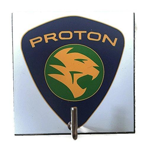 Agility Bathroom Wall Hanger Hat Bag Key Adhesive Wood Hook Vintage Proton Car Logo's Photo