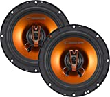 Cadence Acoustic S Q652 250W 6.5-Inch 2-Way Q-Series Coaxial Car Speakers, Set of