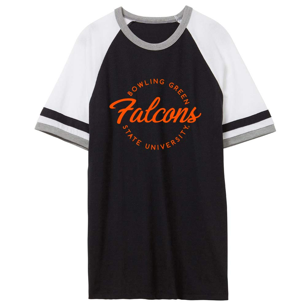 NCAA Bowling Green Falcons RYLBOW04 Unisex Slapshot Vintage Jersey T-Shirt