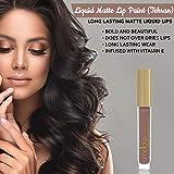 Liquid Matte Lip Paint (Tehran) - Highly Pigmented, Smudge Proof & Moisturizing Lip Color Cream - Vegan, Cruelty-Free & Paraben Free Lip Makeup by Mellow Cosmetics - Tehran